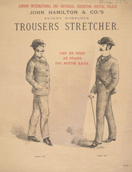 Advert For John Hamilton's Trouser Stretcher
